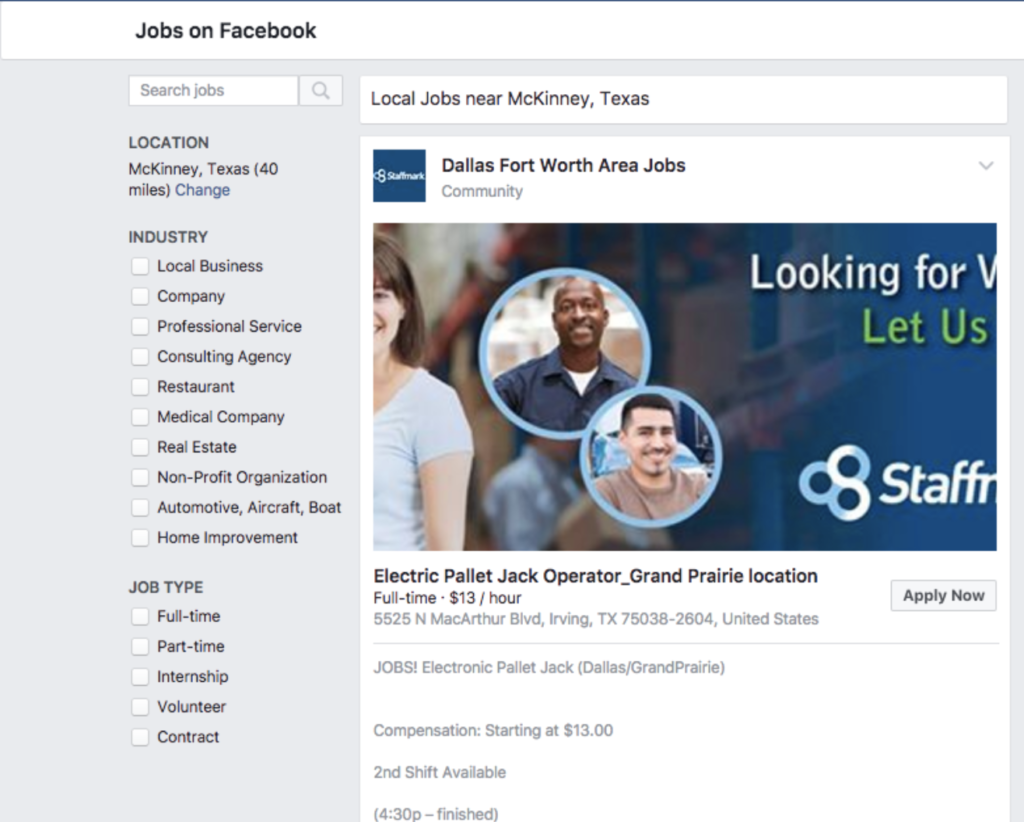 Post a Job to Facebook for Your Golf Course - Facebook Jobs