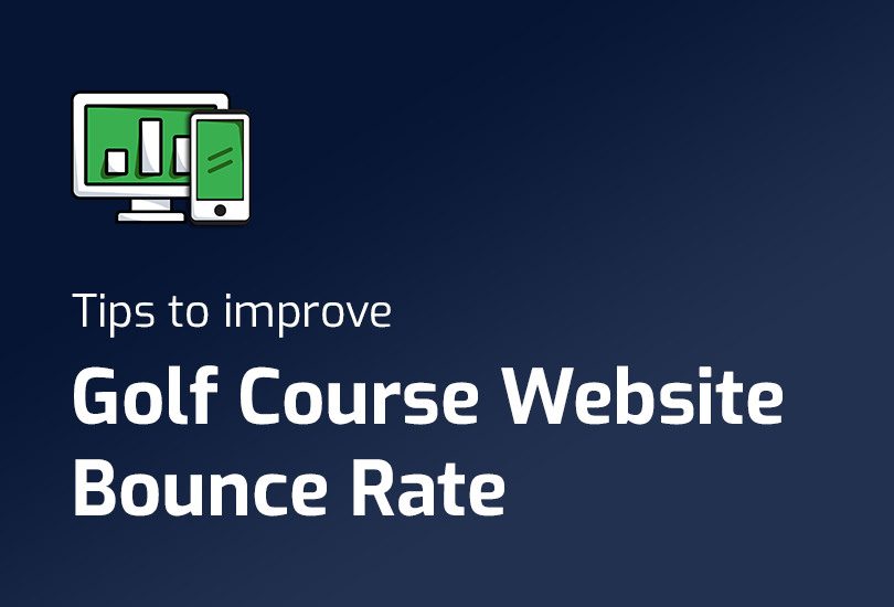 Golf Course Website Bounce Rate - Featured Image