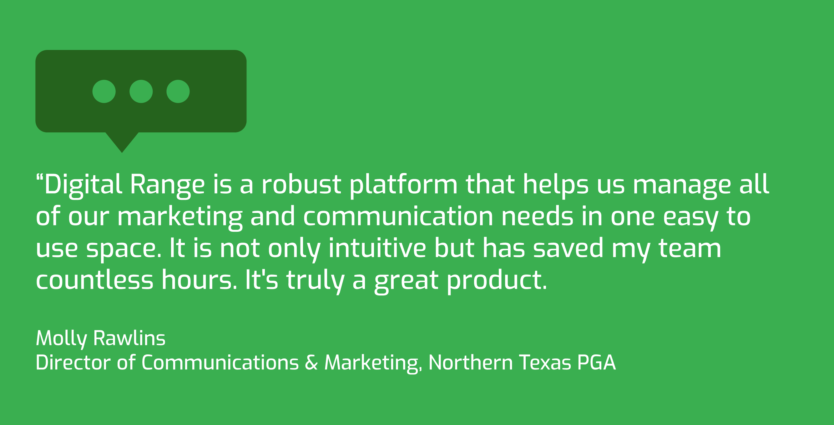 Long Drive Agency, NTPGA Partnership Quote Molly Rawlins